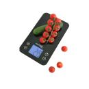 smartLAB kitchen W Küchenwaage mit Bluetooth Smart aus Glas in Schwarz